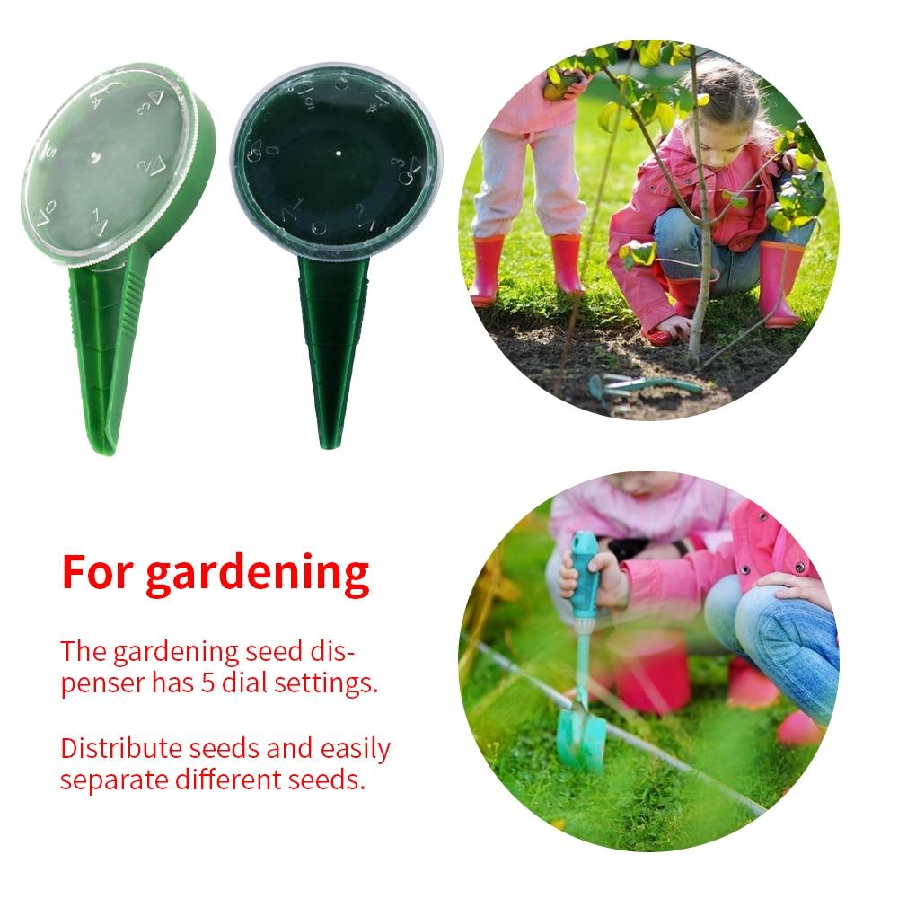 5 File Adjustable Plant Seed Sower Planter Hand Held Flower Grass Plant Seeder Garden Multifunction Seeding Dispenser Tools Acce