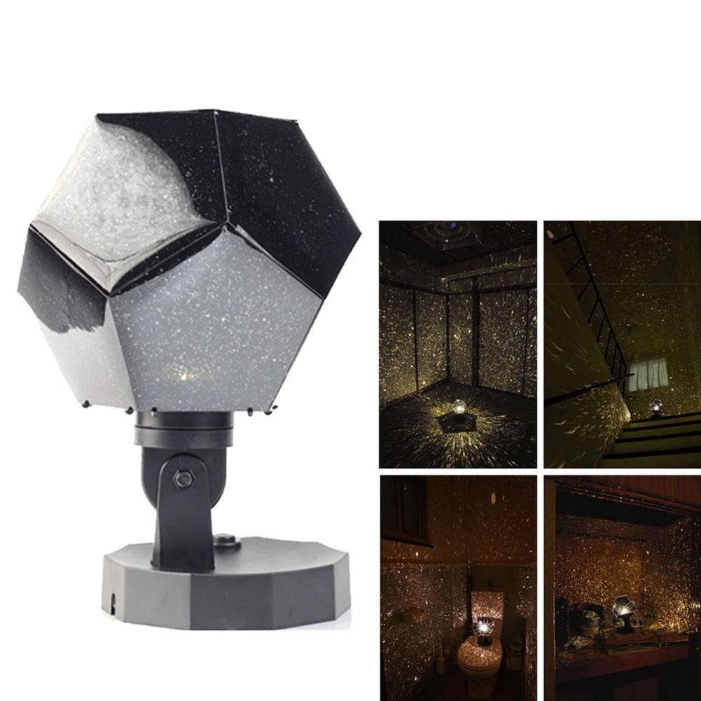 Romantic Astro Star Projection Lamp Cosmos Projector Night Sky Lamp Kid's Gift Home Decor Celestial Star Night Light Bedroom
