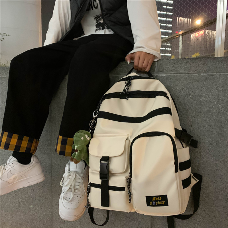 Waterproof Nylon Women Backpack Female Belt Buckle Large Capacity Back Pack Schoolbag For Young Girl And Boys Travel Bag Mochila