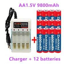 2-16pcs novo tag aa bateria 9800 mah bateria recarregável aa 1.5 v recarregável novas alcalinas drummey + entrega gratuita