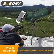 SVBONY SV28 20-60x80mm Telescopio terrestre catalejo con Zoom BK7 prisma FMC lente de aves de caza telescopio Monocular telescopio impermeable F9308 para caza, tiro, tiro con arco, observación de aves