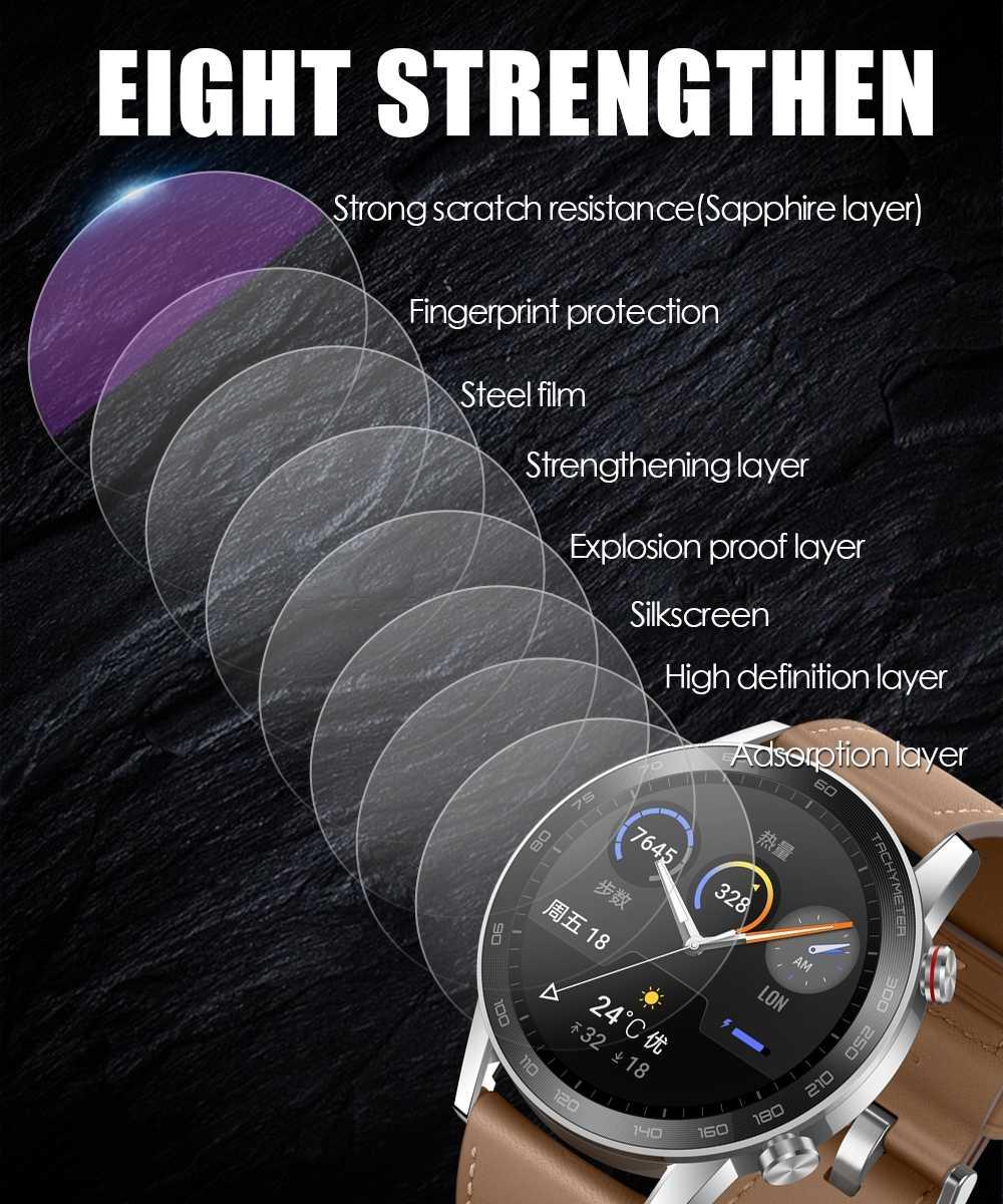 Pelindung Layar Anti Gores untuk Samsung Galaxy Menonton 46 Mm 42 Mm Gear S2 S3 Frontier LTE Klasik 1.3 1.2 inci Film Pelindung