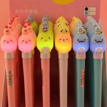 1 Pcs Sumikko Gurashi Gel Pen Cartoon LED 0.5mm Black Ink Writing Light Glow Office School Stationery Supply