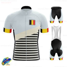 Belgium 2020 Pro Team Cycling Clothing Set Bike Jersey 19D GEL Mens Ropa Ciclismo Bicycle Summer Tops Cycling Jersey Bike Shorts(China)