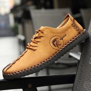 Image 5 - Erkekler rahat ayakkabılar loaferlar erkek ayakkabısı kaliteli deri ayakkabı erkekler Flats sıcak satış mokasen ayakkabı nefes artı boyutu ayakkabı mens