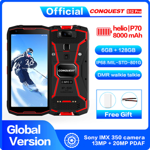 """Image 2 - DMR Walkie Talkie CONQUEST S12 Pro Outdoor Rugged Smartphone  IP68 Waterproof 6.0"""" FHD NFC  Outdoor Smartphone Cell Phone"""