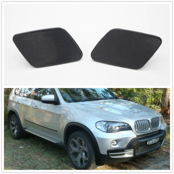 For BMW E70 X5 LCI 2011 2012 2013 Car-styling Front Bumper Headlamp Headlight Wash Cap image