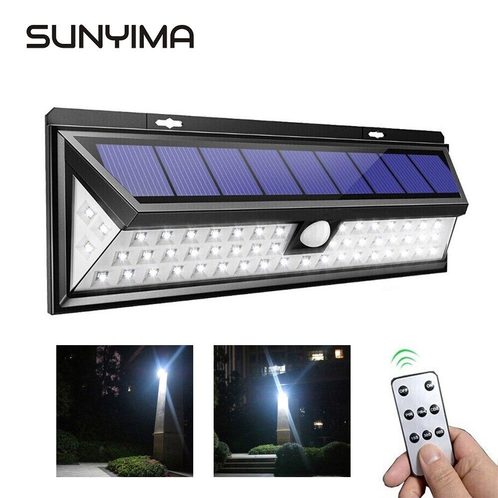 SUNYIMA 118 LED Solar Lamp Outdoor Motion Sensor Solar Powered Spotlight 3 Modes Wall Sunlight For Street Garden Decoration