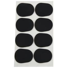 цена на 16pcs Alto/tenor Sax Clarinet Mouthpiece Patches Pads Cushions, 0.8mm Black, 16 Pack