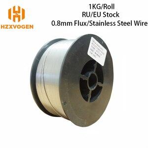 Image 1 - HZXVOGEN 미그 와이어 가스 스테인레스 스틸 와이어 가스 레스 E71T GS 플럭스 코어 와이어 0.8mm 1.0mm 1 롤 미그 용접 액세서리