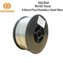 HZXVOGEN Mig Wire Gas Stainless Steel Wire Gasless E71T GS Flux Core Wire 0.8mm 1.0mm 1 Roll Mig Welding Accessories