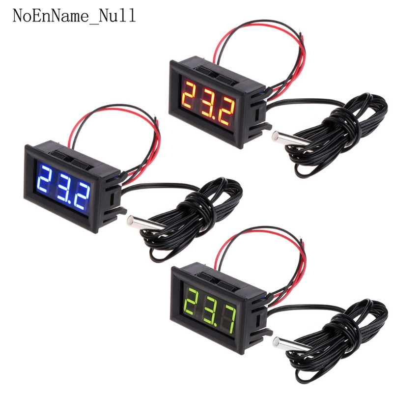-50 meter 110 ° c dc 12v digital led termômetro monitor de temperatura do carro medidor de painel