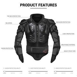 Image 4 - HEROBIKER motosiklet ceketler motosiklet zırhı yarış vücut koruyucu ceket motokros motosiklet koruyucu donanım + boyun koruyucu