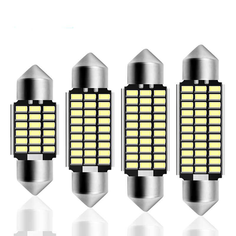 Festoon 31mm 36mm 39mm 42mm LED Bulb C5W C10W Super Bright 4014 SMD Canbus Error Free Auto Interior Doom Lamp Car Styling Light