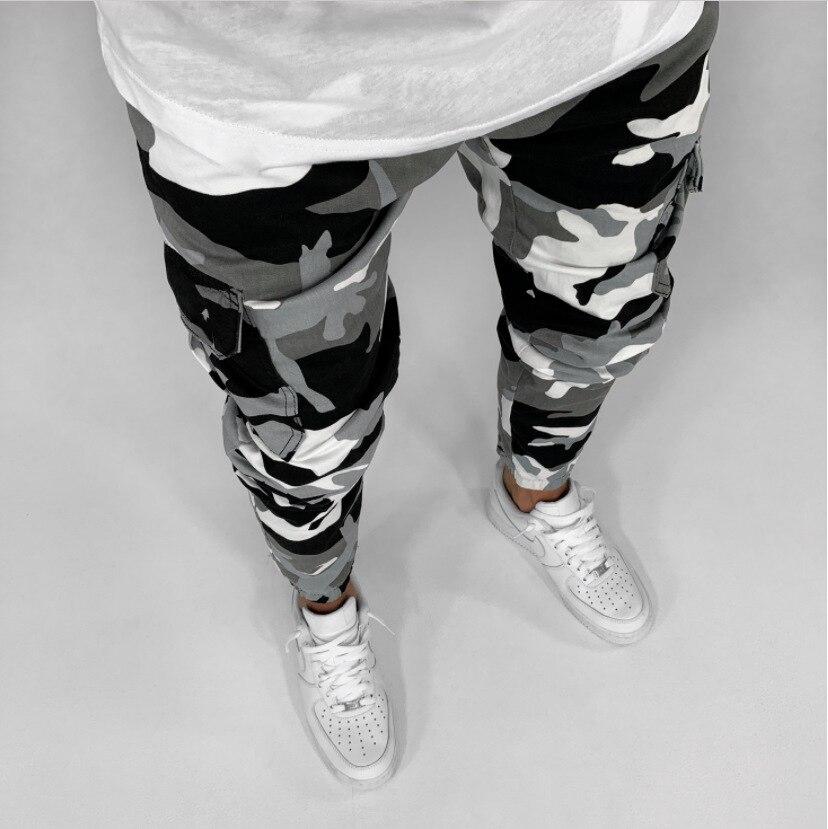 2019 New Arrived Men Camouflage Cargo Pockets Biker Jeans Denim Slim Supper Skinny Hip Hop Jeans Men