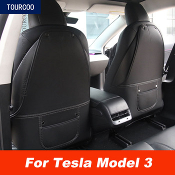Car Seat Back Anti Kick Pad Protector for Tesla Model 3 Styling Modification Child Dirty Leather