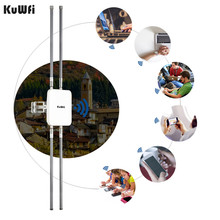 KuWFi 1200Mbps Gigabit POE Buiten Booster Extender Wireless Outdoor Router Dual Band AP 4*12 dBi Antenne Breed dekking Router(China)