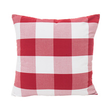 купить home use red plaid striped pattern seat cushion covers 45*45cm without inner cotton polyester square lattice pillow covers X74 по цене 242.29 рублей
