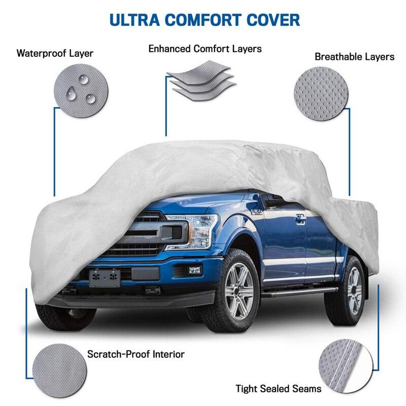 Couvre-poussière de camion en cuir Non tissé épaissi vent, pluie, UV couverture de Protection de camion pour Ford F150 Ram 1500 Chevy Silverado GMC Si - 3