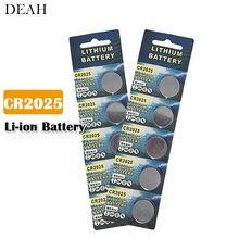 Lot de 10 pièces de piles bouton Lithium-ion, pour télécommande, montre électronique, clé de voiture, CR 2025, 3V, DL2025, br2022, KCR2025