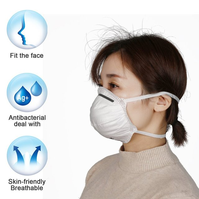 1Pcs KN95 Safety Protective Mask Dust Masks Anti-Particles Anti Bacteria PM2.5 Anti Flu Mask FFP2 Mouth Mask 5