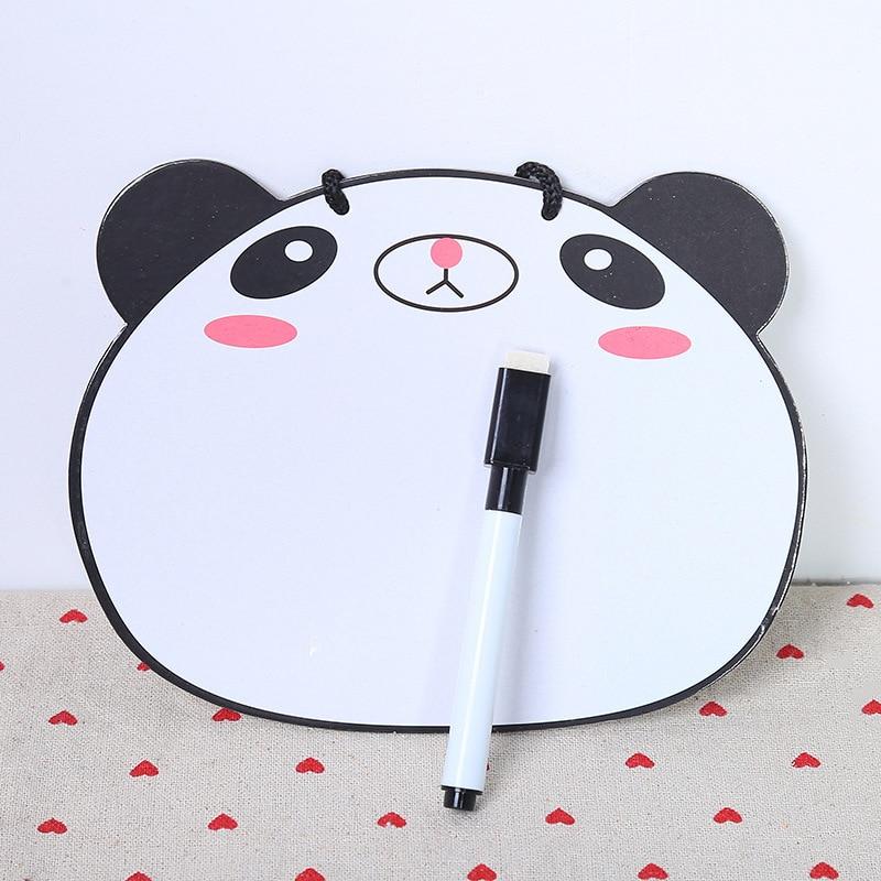 Mini Whiteboard Writing Pad Paper Clipboard Folders Cartoon Note Board Clamp Kids Drawing Board Holder Plastic With Pen Plate