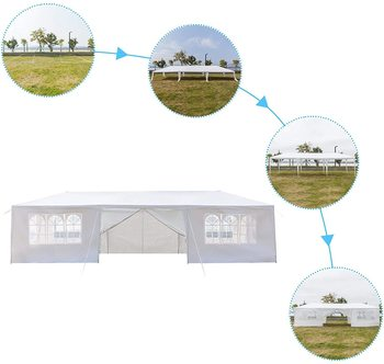 Yonntech 3 x 9m Party Tent Gazebo Marquee with Spiral Tubes Waterproof Outdoor Picnic