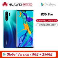 Globale Versione Huawei P30 Pro 8GB 256GB Kirin 980 Octa Core Per Smartphone 5x Zoom Ottico Quad Camera 6.47 ''completo di Schermo OLED NFC