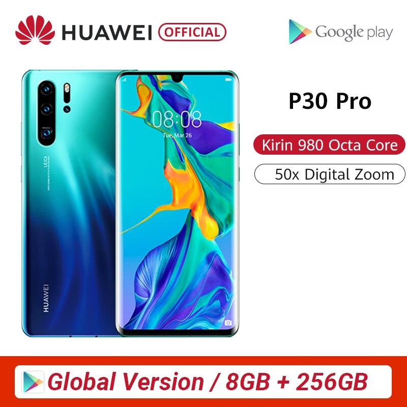 Version mondiale Huawei P30 Pro 8 go 256 go Kirin 980 Octa Core Smartphone 5x Zoom optique Quad caméra 6.47 ''plein écran OLED NFC promo core SHOPFR20 ( 80-20 EUR) FRMUST30 ( 150-30 EUR ) SHOPFR20 EUR80-20