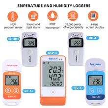 RC 4/4HC/5/5+/GSP 6 Digital USB Temperature Humidity Data Logger Built in NTC Sensor High Precision Thermometer Data Logger