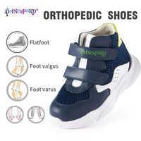 Prince pard 2019 sprots chaussures enfants automne chaussures orthopédiques blanc marine style coréen baskets 19-37 taille européenne
