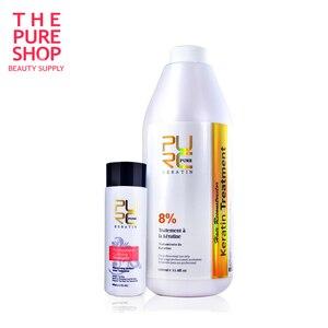Image 1 - Pure Keratin Smoothing 8% Formlain Repair Damaged and Make Hair Soft Shine High Quality Salon Styling Hair