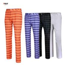 Мужские клетчатые длинные брюки, ультра-тонкие спортивные брюки, прямые дышащие брюки, одежда для Pantalon, для гольфа, бега, тенниса, отдыха