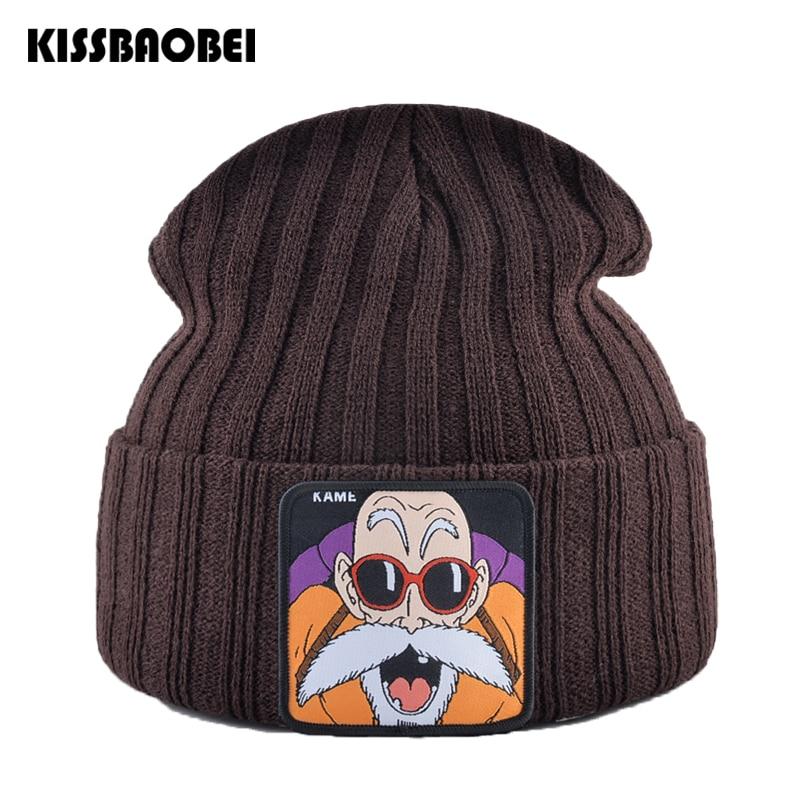 Knit Hats Beanies-Caps Embroidery Skullies Warm Women Winter Fashion for Dragon-ball-beanie-cap/Skullies/Men
