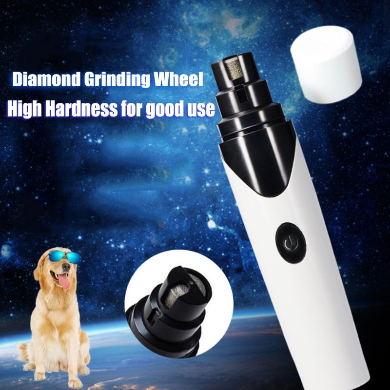 Купить с кэшбэком Pet USB Electric Nail Paws Grinder Trimmer Clipper Rechargeable Cat Dog Grooming Device