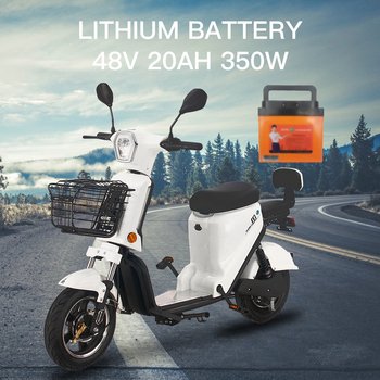25KM/H Electric Motorcycle 350W 20AH 48V Electric Scooter For Adult Women Men Electric Vehicle Moto  Front Rear Drum 2