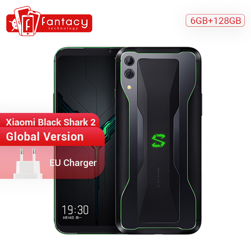 "Global Version Xiaomi Black Shark 2 6GB 128GB Gaming Phone Snapdragon 855 Octa Core 6.39"" AMOLED Screen Mobile Phone 48MP Camera"