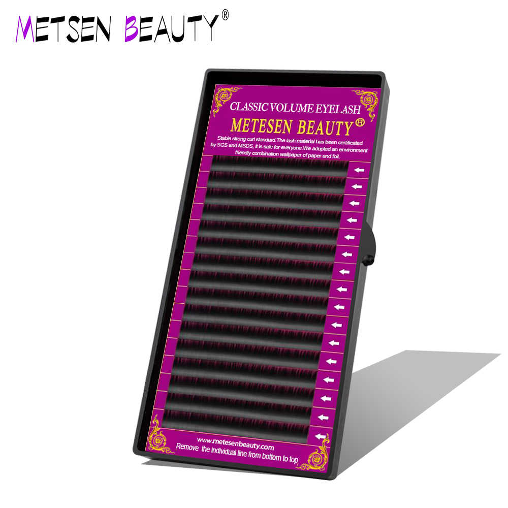 METESEN BEAUTY L LC LD CURL 16rows  Individual Volume Classic Eyelashes Faux Mink Eyelashes Extension Artificial False Lashes