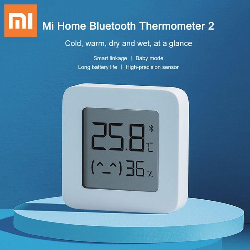 Xiaomi Mijia Bluetooth Thermometer 2 Wireless Smart Electric Digital Hygrometer Thermometer Humidity Sensor Xiaomi Smart Home