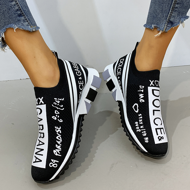 Women Vulcanized Shoes Unisex Fashion Slip On Casual Shoes Woman Sneakers Thick Bottom Walking Sneakers Basket Femme Sapatos|Women's Vulcanize Shoes| - AliExpress