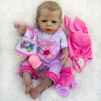 New Full Body Silicone Reborn Baby Girl Doll Reborn Bebe Reborn Vinyl Doll for Baby Kids Toys for children Brinquedos Juguetes
