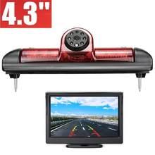 Misayaee E9 HD 3rd Bremslicht Auto Rückansicht Kamera für Fiat Ducato 250 Citroen Jumper Relais 35 Peugeot Boxer + 4,3 zoll Display