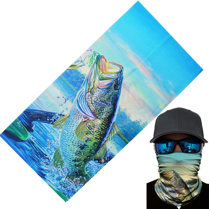 Outdoor Climbing Hiking Scarves Skiing Fishing Windproof UV Protection Camouflage Bandana Face Mask Neck Scarves Wraps Headwear