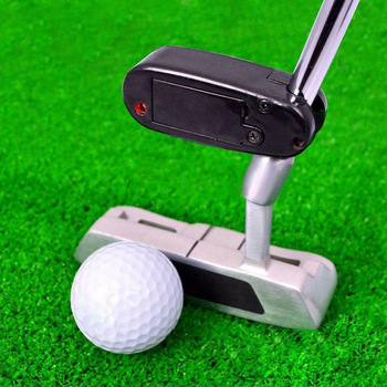 Alat penunjuk jarak golf putter pointer mini golf meletakkan alat latihan latihan garis bantuan