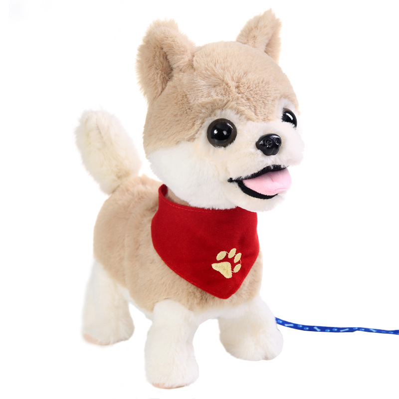 Cute Electronic Pets Musical Robot Dog Toys Sing Bark Walk Interactive Toys Electric Sound Pets Animals Toys For Kids