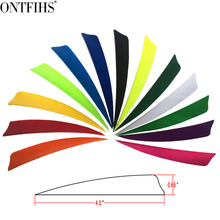 50pcs/lots 4 Shield Hunting Arrow Feathers 12 Color Turkey Feather Archery Accessories Fletching FT46