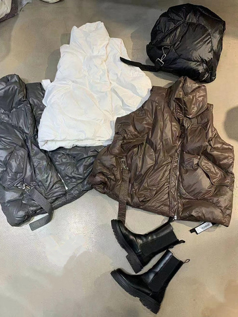 FMFSSOM Loose Causal  90%  White Duck Down Jacket Women Sleeveless Asymmetric Length Beige Spring Autumn Windpoof Basic Outwear 6