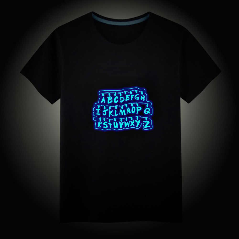 TV Series Riverdale Stranger Things Luminous Kids T-Shirts Boy Girls Fluorescent Short Sleeves T shirt Baby Cotton Tops Ves
