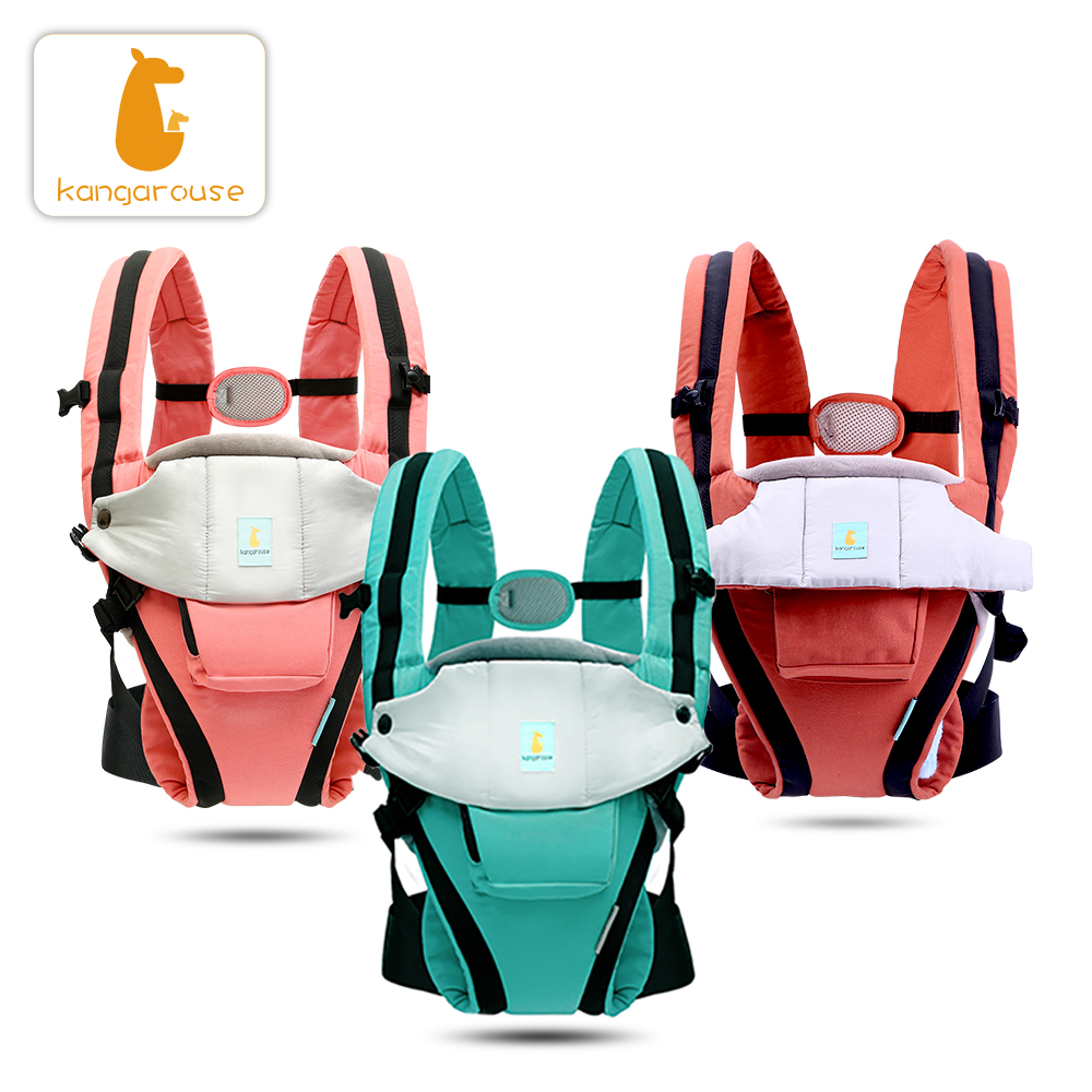 Kangarouse cotton ergonomic baby carrier for new-born to 36 month KG-100 title=