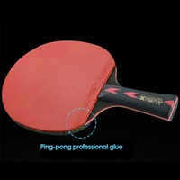 New 2pcs/set Table Tennis Racket 5 Star Pimples in Rubber 5 Baseboard Layers Wooden Ping pong Bats Racquet Sports Accessories